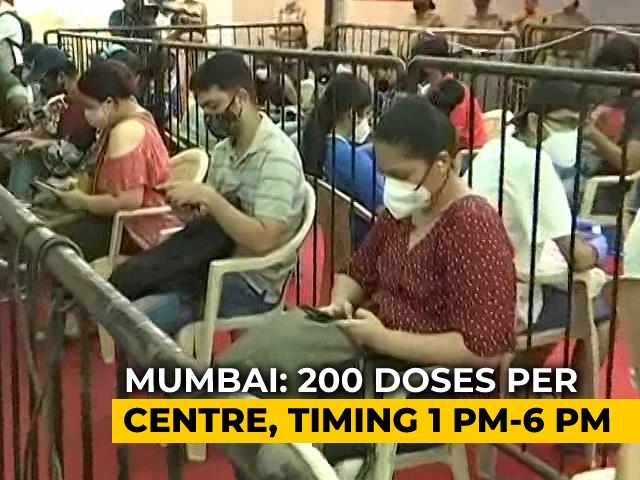 Video : Mumbai: 5 Vaccination Centres For 18-44 Age Group