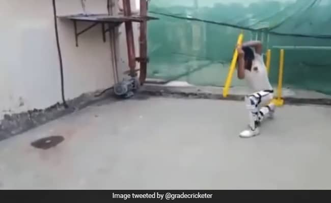 This Kid batting with the stump, you will Spellbound after seeing his shots Watch Viral Video