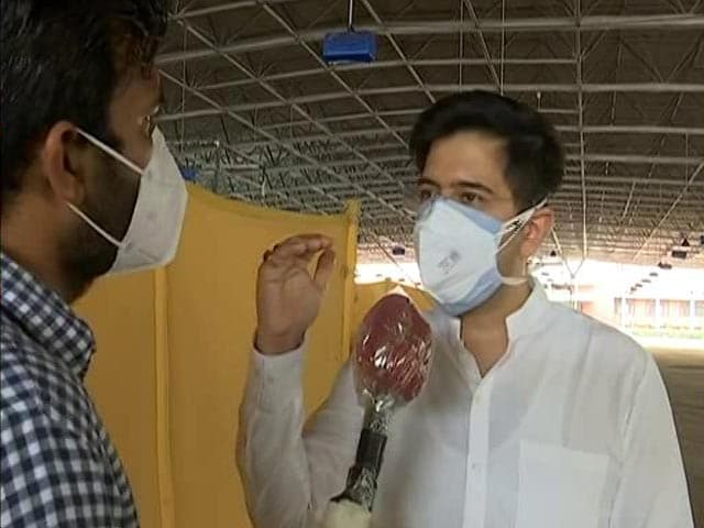 """Video : """"We're Just Getting Just 44 Per Cent Of Required Oxygen"""": AAP's Raghav Chadha"""