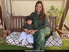 """Twinning And Winning My Laddoo"": Sania Mirza Shares Photos With Son Izhaan In Matching Outfits"