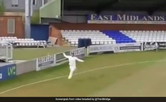 Watch Wonder catch by South African player Dane Paterson batsman shocked derbyshire vs nottinghamshire match of county championship
