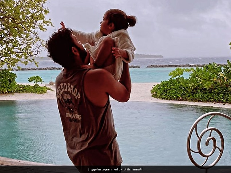 """""""Proud Girl Dad"""": Rohit Sharma Shares Adorable Picture With Daughter Samaira"""
