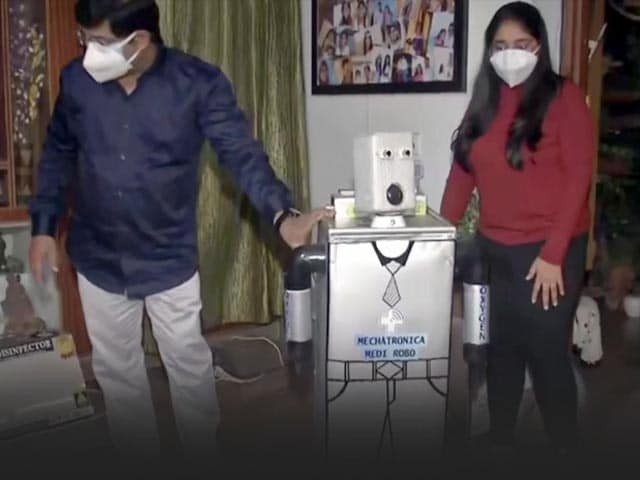 """Video : Bihar Student Develops """"Robot"""" To Assist In Treatment Of Covid Patients"""