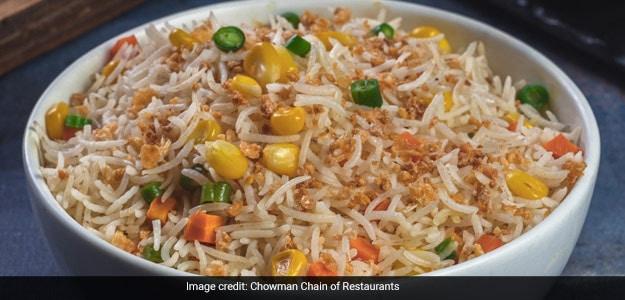 Coriander Burnt Garlic Rice-