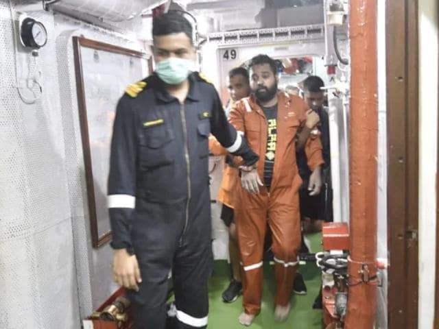 Video : 38 Missing, 186 Rescued Four Days After Cyclone Sank Barge Off Mumbai