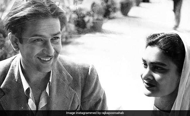 Here?s A Vintage Pic Of Raj Kapoor And Wife Krishna, Courtesy Karisma Kapoor