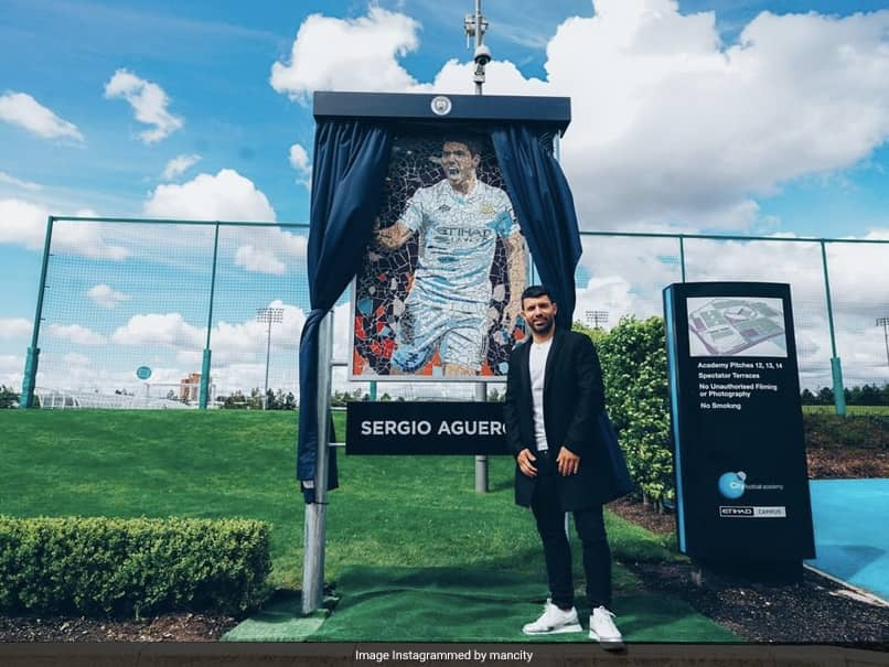 Premier League: Sergio Aguero Presented With Mosaic Inspired By His First-Ever Manchester City Goal