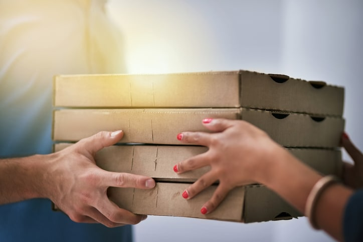 Watch: Woman Takes Pizza Bag From Delivery Boy And It's Too Funny To Miss