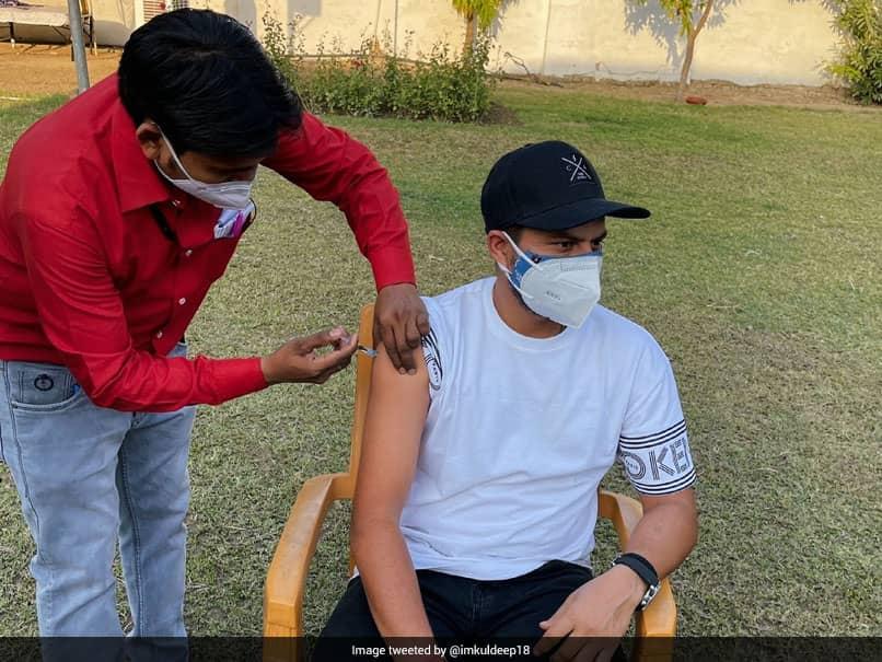 Kuldeep Yadav Receives A Dose Of COVID-19 Vaccine