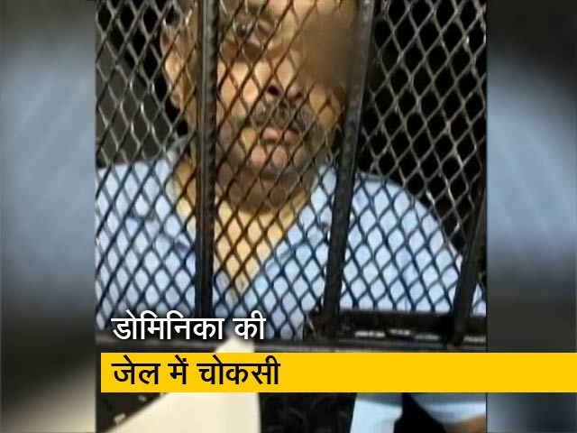 Video : सलाखों के पीछे मेहुल चोकसी, नई तस्वीर आई सामने