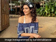 Pretty In Blue, Karishma Tanna Makes A Chic Case For Off-Shoulder Dresses