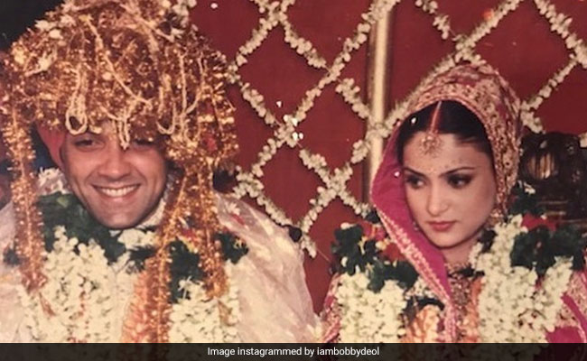 'You Mean The World To Me,' Writes Bobby Deol For His Wife Tanya On 25th Wedding Anniversary
