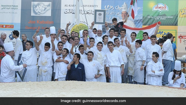 Lebanon Chef Breaks Records By Whipping Largest Serving Of Hummus