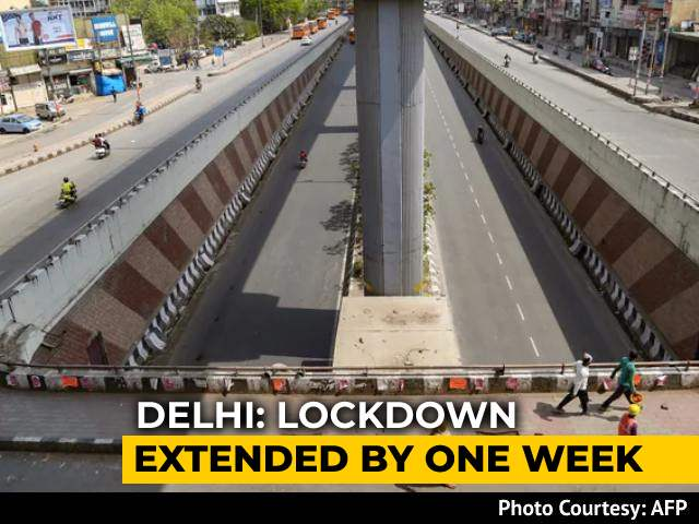 Video : Delhi Lockdown Extended By A Week As Daily Covid Cases Still Above 25,000