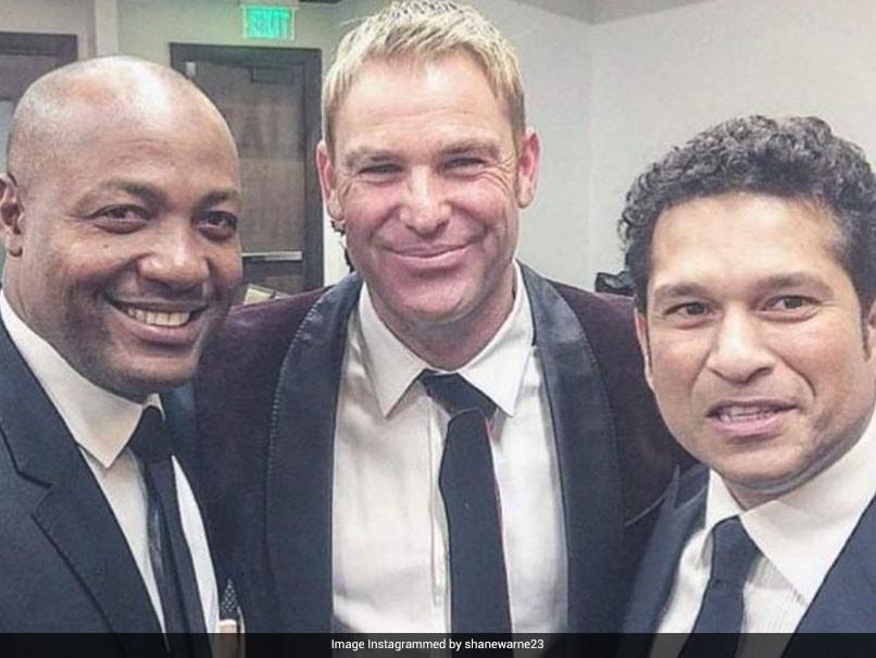 "Shane Warne Shares Picture With ""Great Friends"" Sachin Tendulkar and Brian Lara"