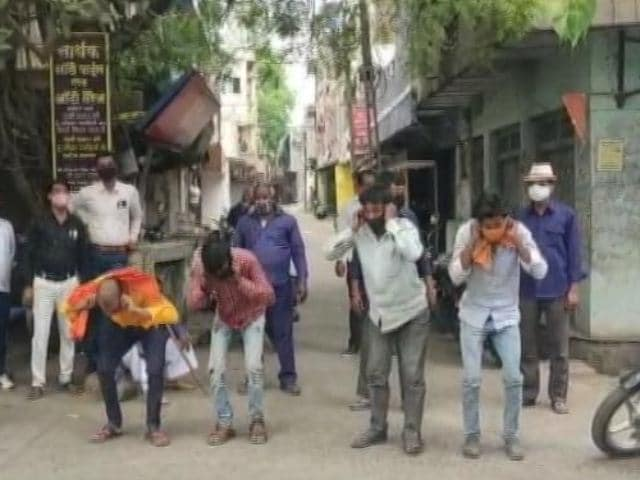 Video : Madhya Pradesh Covid Curfew Violators Made To Do Exercises