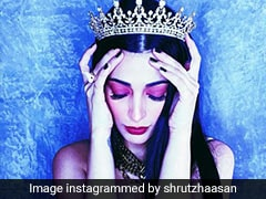 """Shruti Haasan's """"Own Brand Of Royalty"""" Includes Purple Pop Eye Makeup And A Sparkling Crown"""
