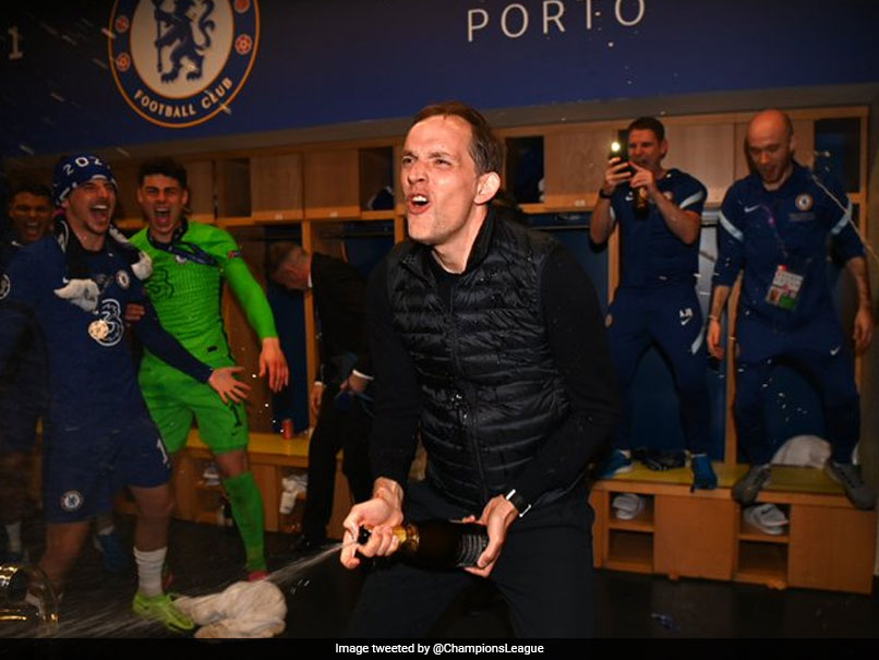 """Watch: """"Party Time"""" For Chelsea As Thomas Tuchel Joins Players In Epic Champions League Victory Celebrations"""