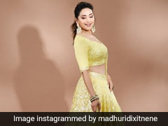Madhuri Dixit In A Gorgeous Yellow Lehenga Is Setting Sky High Summer Ethnic Style Goals