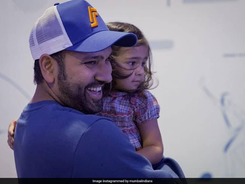 "IPL 2021: Rohit Sharmas ""Cutest Partnership"" With Daughter Samaira Has Mumbai Indians Gushing"