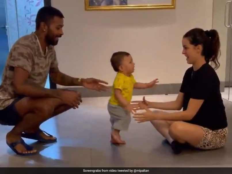 "Watch: ""Baby Pandya On The Move"", Mom Natasa Stankovic And Dad Hardik Pandya Cant Stop Smiling"