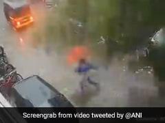 Watch: Mumbai Woman's Narrow Escape From Falling Tree Amid Heavy Rain