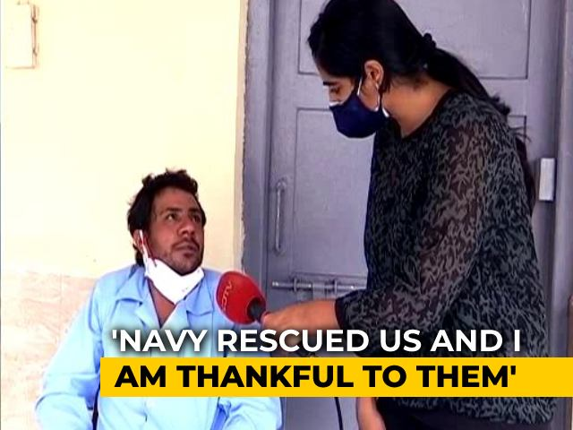 Video : Man Rescued By Navy Recounts Ordeal After Barge Sunk By Cyclone Tauktae