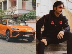 Actor Ranveer Singh Brings Home The Lamborghini Urus Pearl Capsule Edition