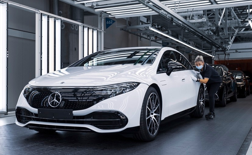 The Mercedes-Benz EQS, which debuted in April 2021, is listed on the company's India website