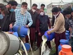 Kashmir Dairy Farmers Dump Milk In Drains As Covid Curbs Hit Demand