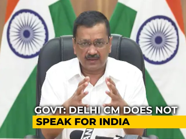 """Video : Arvind Kejriwal """"Doesn't Speak For India"""": Centre As Singapore Objects"""