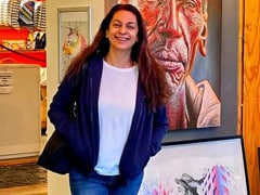 """Just A Pic Of Juhi Chawla On The """"Colourful Street"""" In Cape Town"""