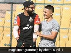 """Invoice Bheju Ya..."": Sunil Chhetri On Virat Kohli's 'Accidental Crossbar' Shot"