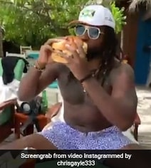 Watch: Chris Gayle Relishes 'Biggest Burger' Of His Life In Maldives