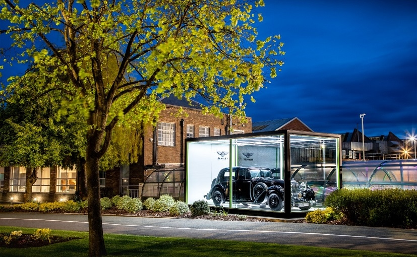 The Bentley Mark V stands proudly on display at Bentley's famous Pyms Lane factory
