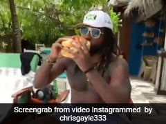 """Watch: Chris Gayle Relishes """"Biggest Burger"""" Of His Life While On Vacation In Maldives"""