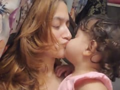 """""""Us"""": Sanjeeda Shaikh's One Word Caption For The Video Of Her Daughter Kissing Her"""