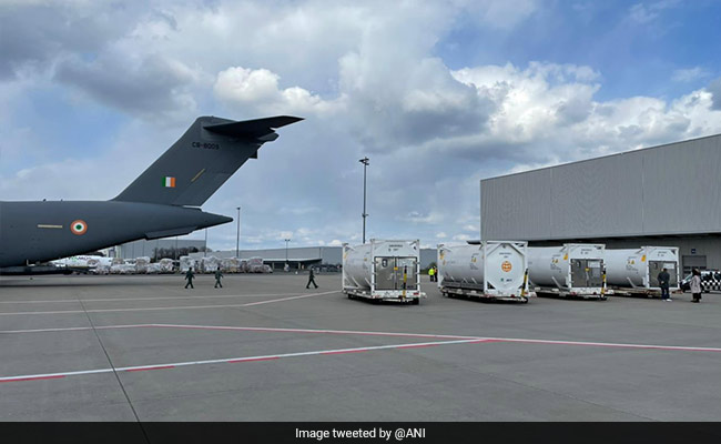 Indian Air Force Airlifts Oxygen Containers From Germany, UK