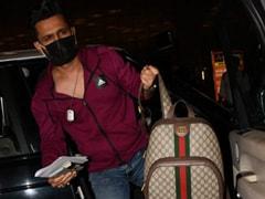 Rahul Vaidya's Rs 1.3 Lakh Gucci Backpack, Sana Makbul's Rs 2 Lakh Louis Vuitton Twist Add Glitz To Airport Style