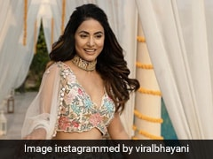 Hina Khan's Swirls And Twirls For Eid 2021 In A Gorgeous Floral <i>Lehenga</i>