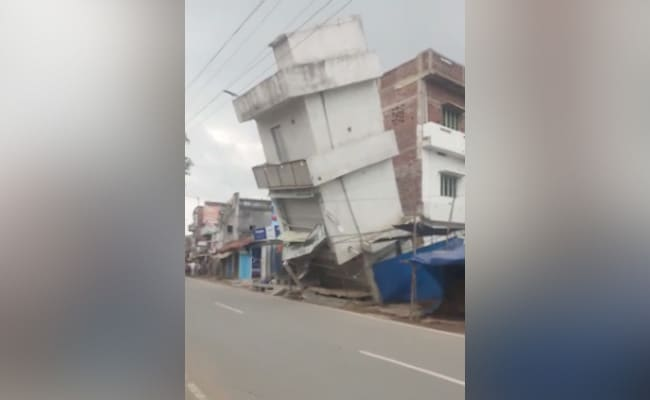 Bihar: 3-storey house built on National Highway collapses, no loss of life and property