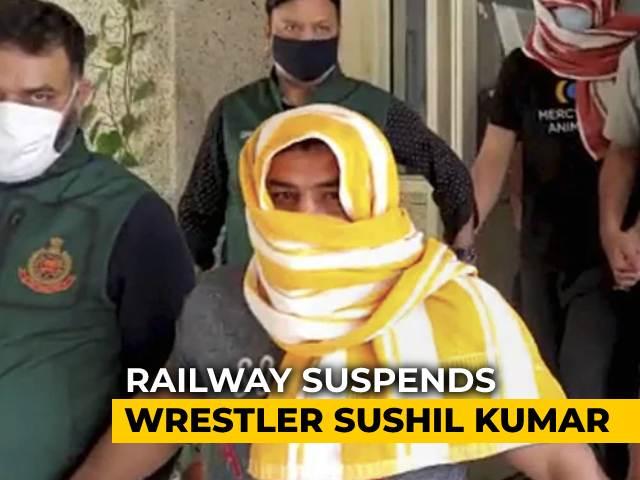 Video : Wrestler Sushil Kumar, Arrested In Murder Case, Suspended By Railways