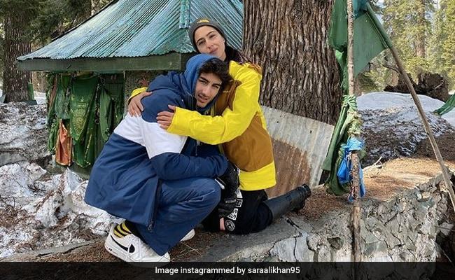 Eid Ul Fitr: Sara Ali Khan Hugs Brother Ibrahim In Kashmir Throwback Pic