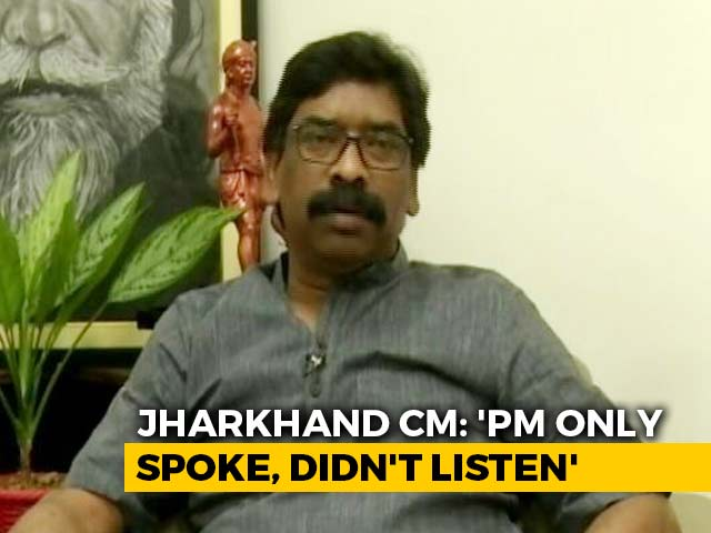 """Video : """"Try Listening, Too"""": Jharkhand Chief Minister To PM After Phone Call"""