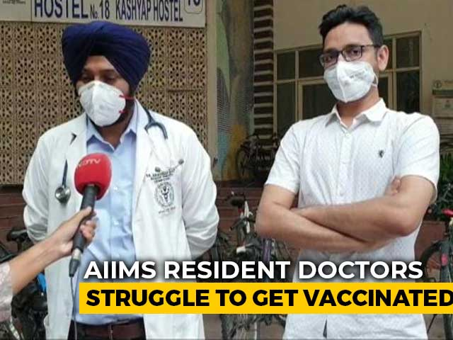 Video : 200 AIIMS Resident Doctors Have Not Got First Vaccine Dose
