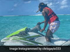 Chris Gayle Enjoys Stay In The Maldives, Posts Photos On A Jet Ski