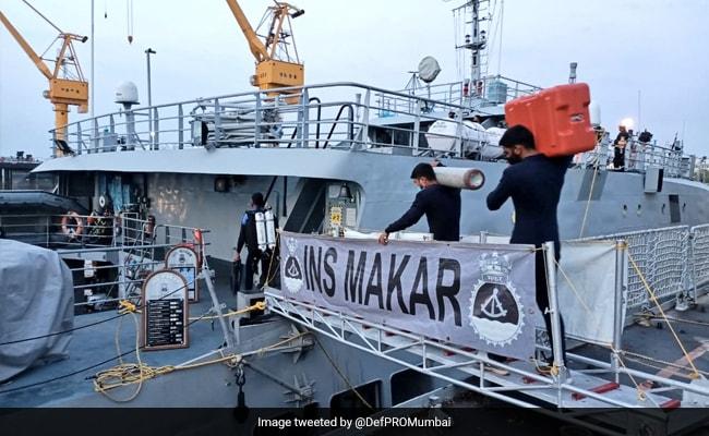 INS Makar Locates Tugboat Varaprada, Divers Looking For Bodies: Navy