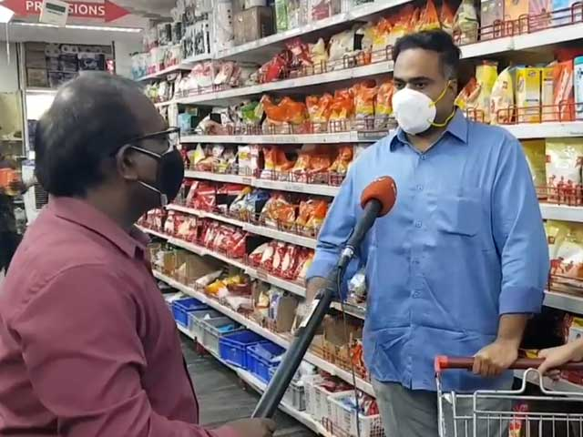 Video : In Chennai, People Step Out To Stock Up Essentials Ahead Of Lockdown