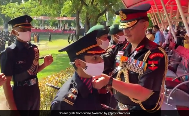 Seeped In Her Husband's Colours: Pulwama Hero's Wife Dons Army Uniform