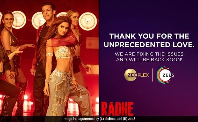 Release Of Salman Khans Radhe Makes Zee 5 Servers Crash